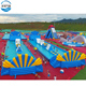 Giant inflatable floating water park in pool,factory cheap inflatable water park games for adults