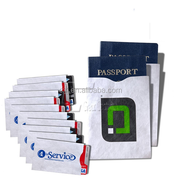 RFID Blocking Sleeves For Smart Card Credit Card and Passport Protector