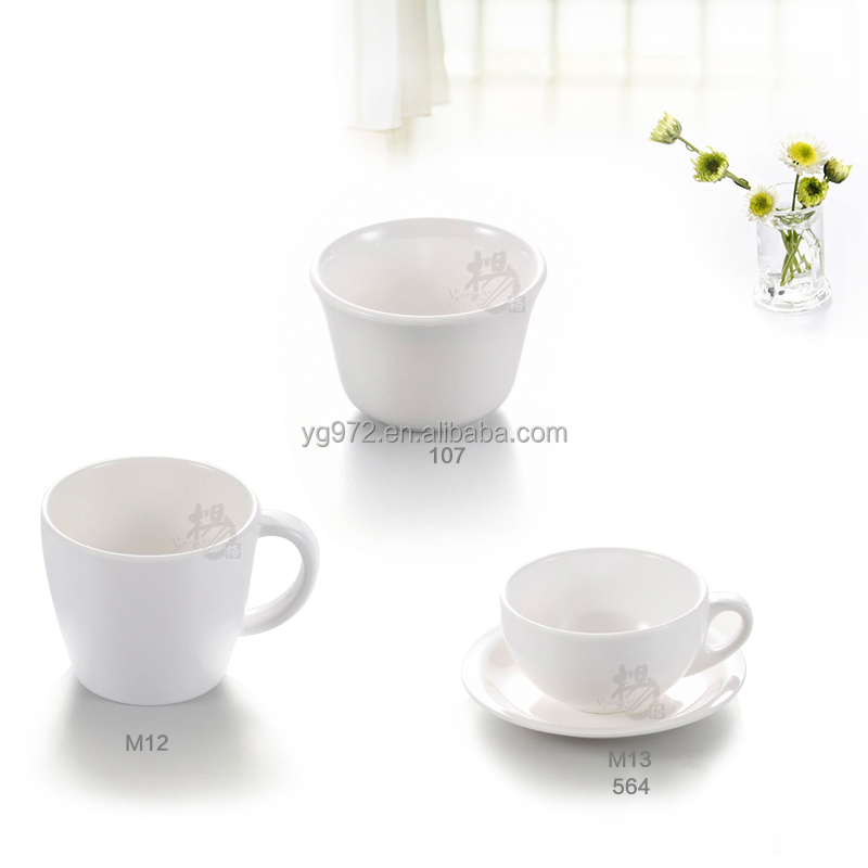 100% Melamine Hot Sale Melamine Cups with Handle and Plate