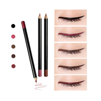 Private Label Cosmetics Eye Makeup 12 Colors Pigment Wooden Eye Liner Pencil
