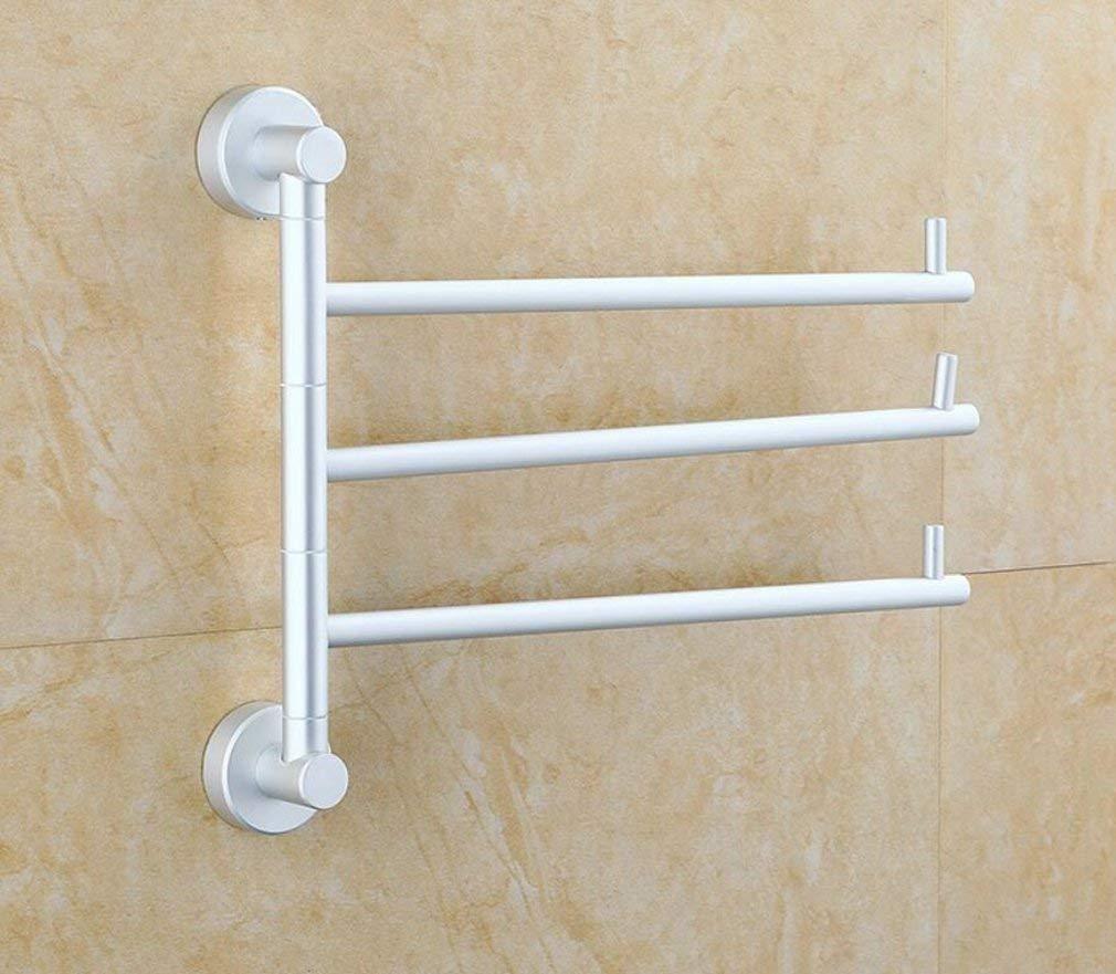 EQEQ Sucastle Accessories Bath Rooms, Local of The Activity of The Aluminum Frame Three Poles Towel Towel Rack Towel Rack