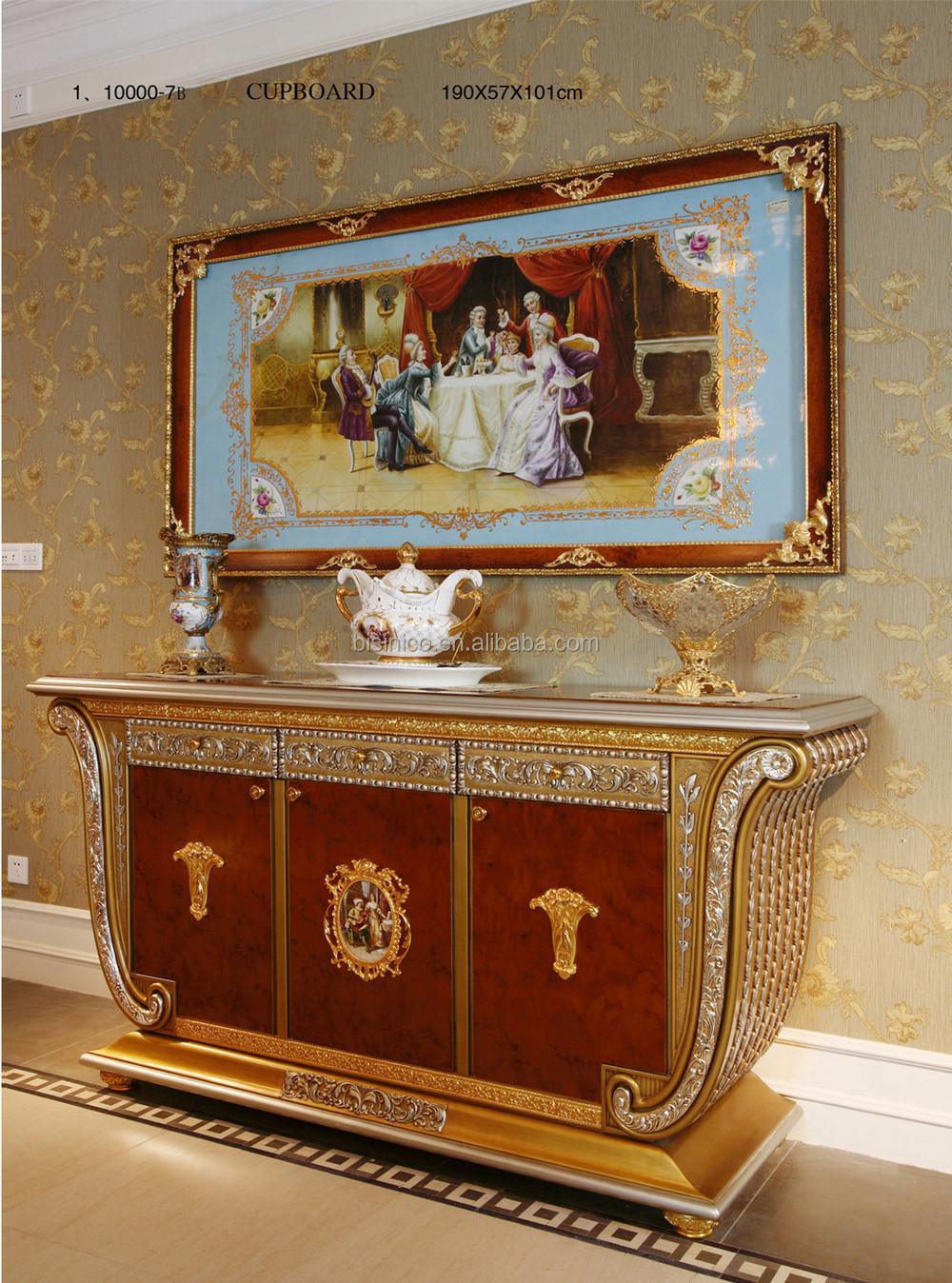 Luxus franz sisch barock blattgold sideboard mit spiegel - Spiegel esszimmer ...
