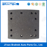 Semi-metal brake lining for semi trailer and truck