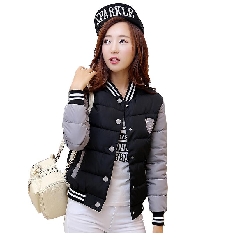 2016 New font b Winter b font Jacket Women Korea Uniform Warm Short Jackets Coat Cotton