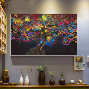 Creative Style Trippy Poster Silk Posters Abstract Foliage Landscape Home Decor 3D Wall Painting Products Art Decoration