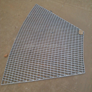 hot sale galvanized aluminium steel plain serrated walkway grating