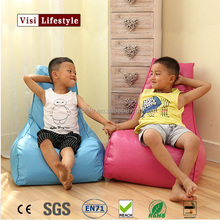 Visi Trendy Chair Beanbag Cover High Quality PU Leather Children Single Seat Game Read Sofa Outdoor Indoor Home Furniture