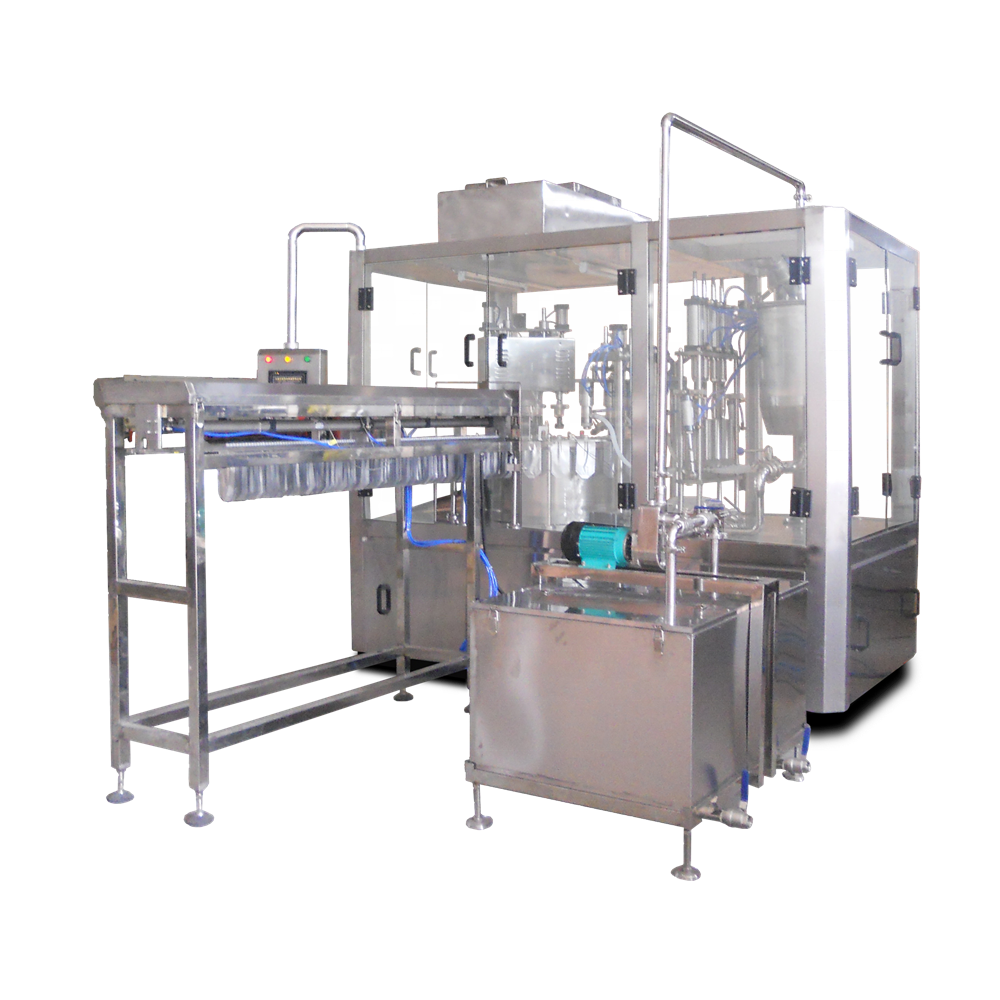 Automatic spout pouch filling capping machine สำหรับของเหลว jelly นมน้ำประเภทโรตารี่