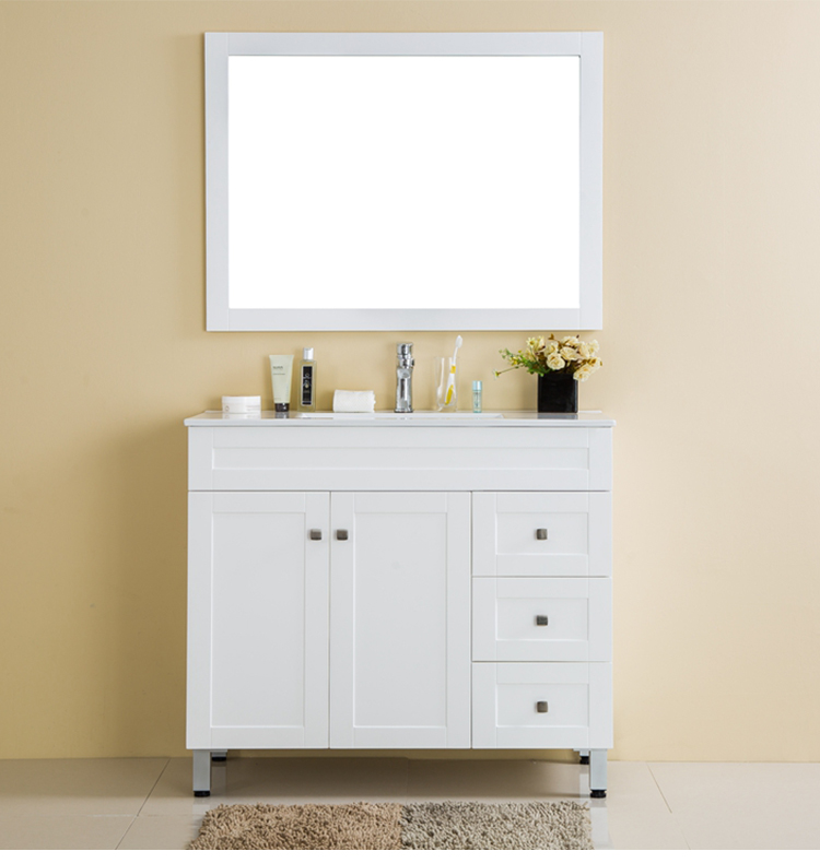 New water proof 4 colors floor mounted plywood bathroom vanity cabinets