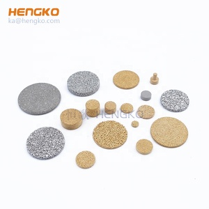 Sintered porous brass bronze copper powder filter disc