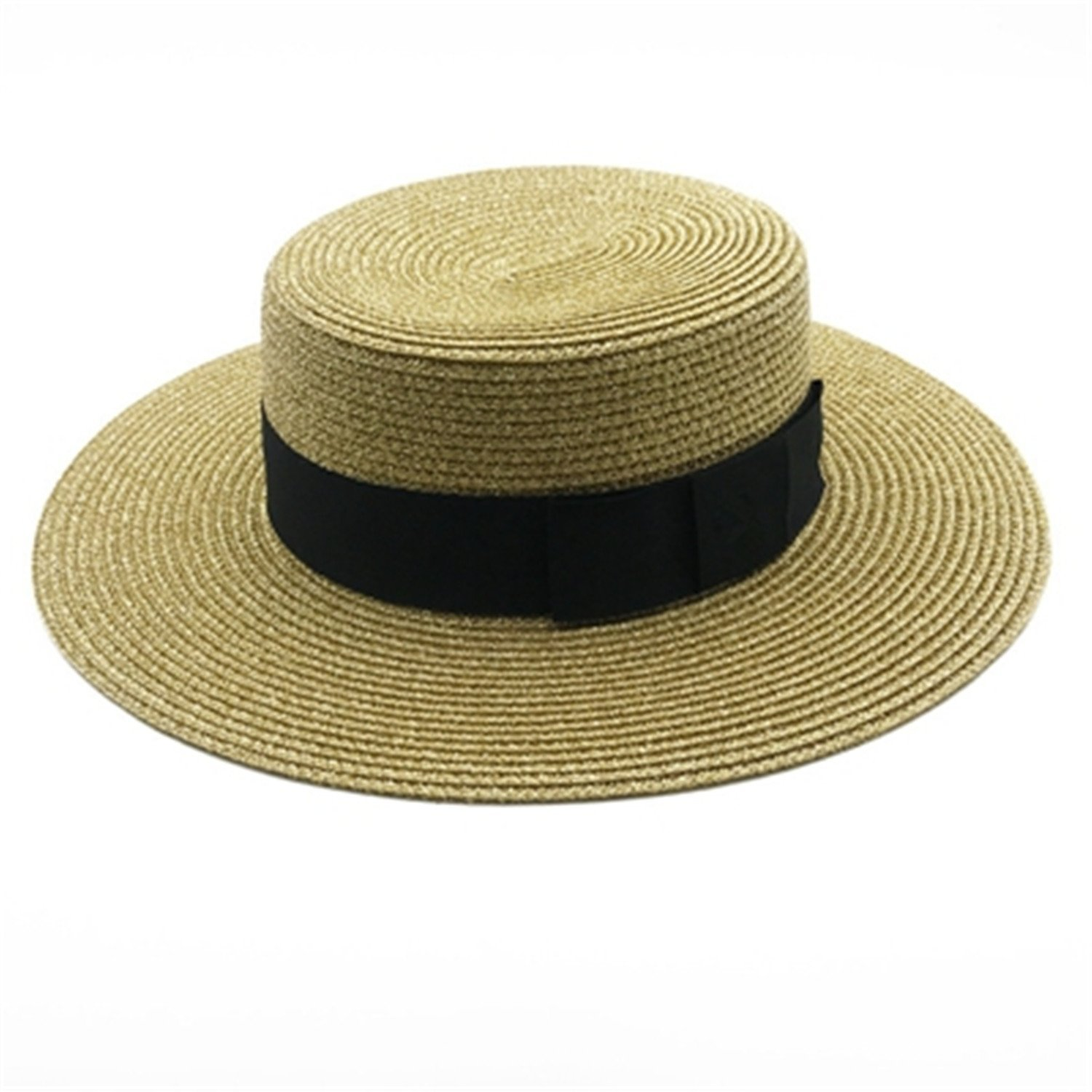 1e20765bf7055 Get Quotations · Barry picks Fashion Wide Brim Sun Hats Solid Ladies Straw  Hats Women Summer Beach Cap Young