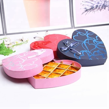 Heart shape packaging carton love 18 grid chocolate box candy  gift box