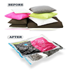 Transparent reusable plastic quilt save 75% space vacuum bag