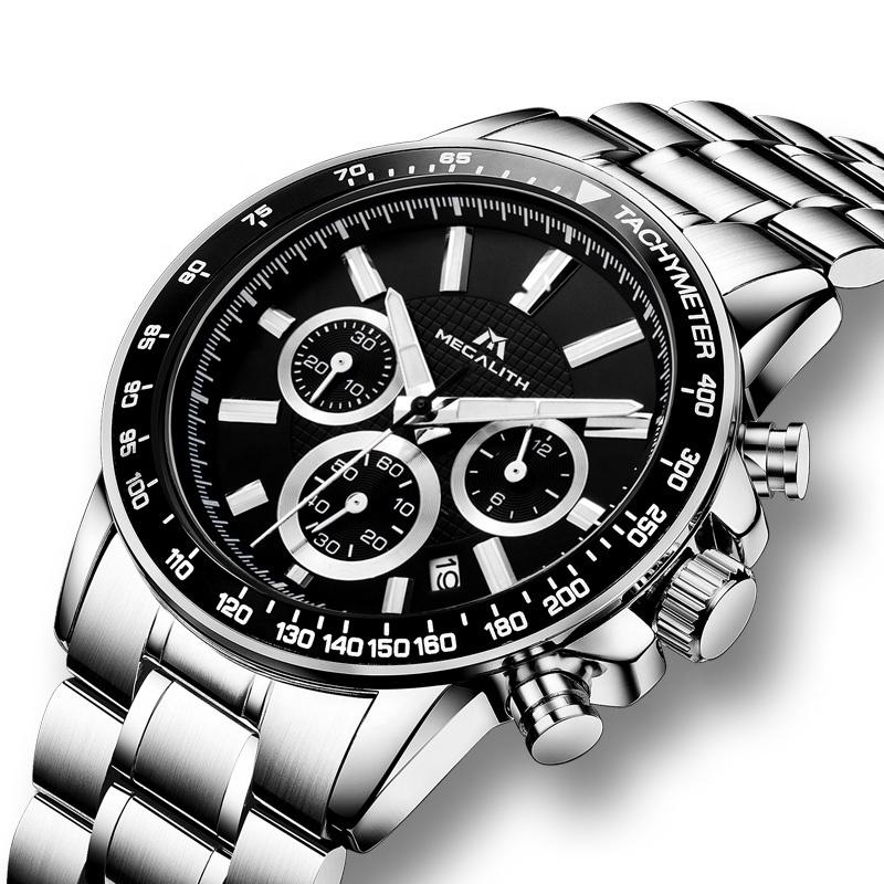 Compre 2019 Reloj Multifunción Megalith Cronógrafo Del