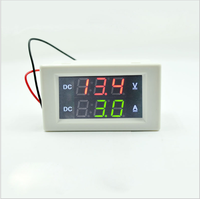 "DC 300V 50A Digital Voltmeter Ammeter DC VOLT AMP Tester Gauge with red and green Led no shunt With back cover 0.39 ""LED"