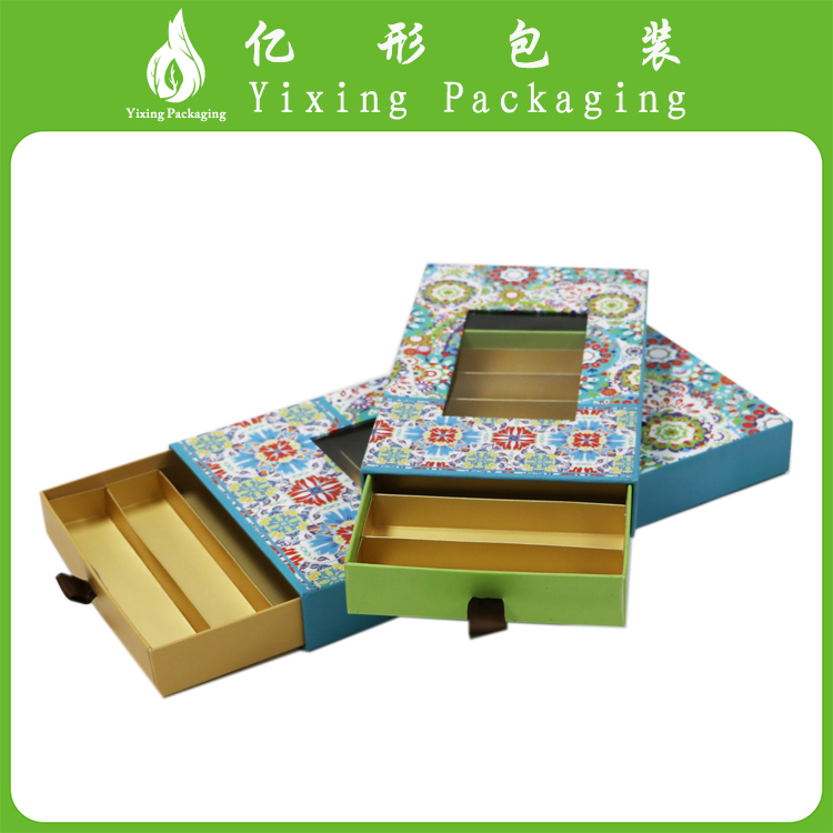 White paper packing box with clear window for nut 2016