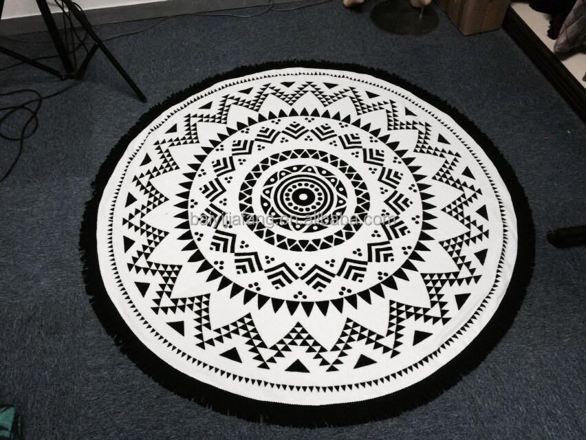 100 coton impression r active serviette de plage ronde. Black Bedroom Furniture Sets. Home Design Ideas