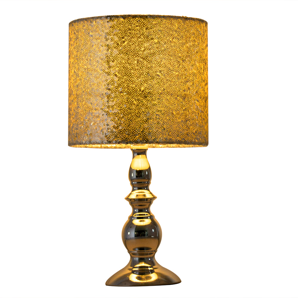 Beautiful design bronze metal hanging beads ornaments table lamp