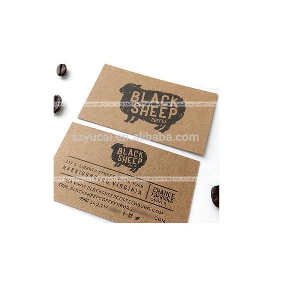 450g Kraftpapier Visitenkarte Gestanzte Visitenkarte