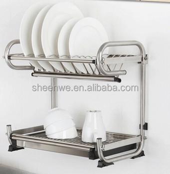 Wdj440 460 Guangzhou Kitchen Wall Hanging Stainless Steel Dish Rack