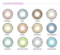 Green/blue colors Fancylook 3-tone magic Hidrocor freshtone color contact lenses 12colors