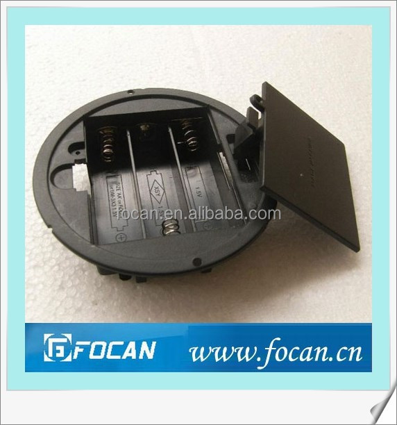 Circular Type Aa Battery Holder With Switch And Lid For Three Aa ...