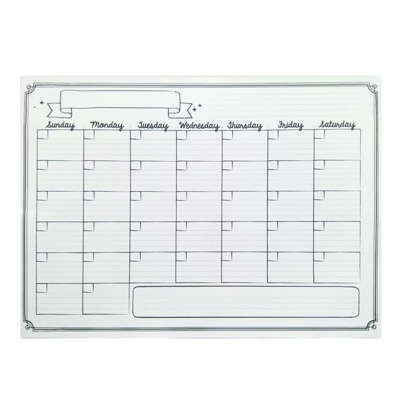 Seco borrar calendario pizarra magn tica dise o impermeable flexible im n junta imanes para la - Pizarra calendario ...
