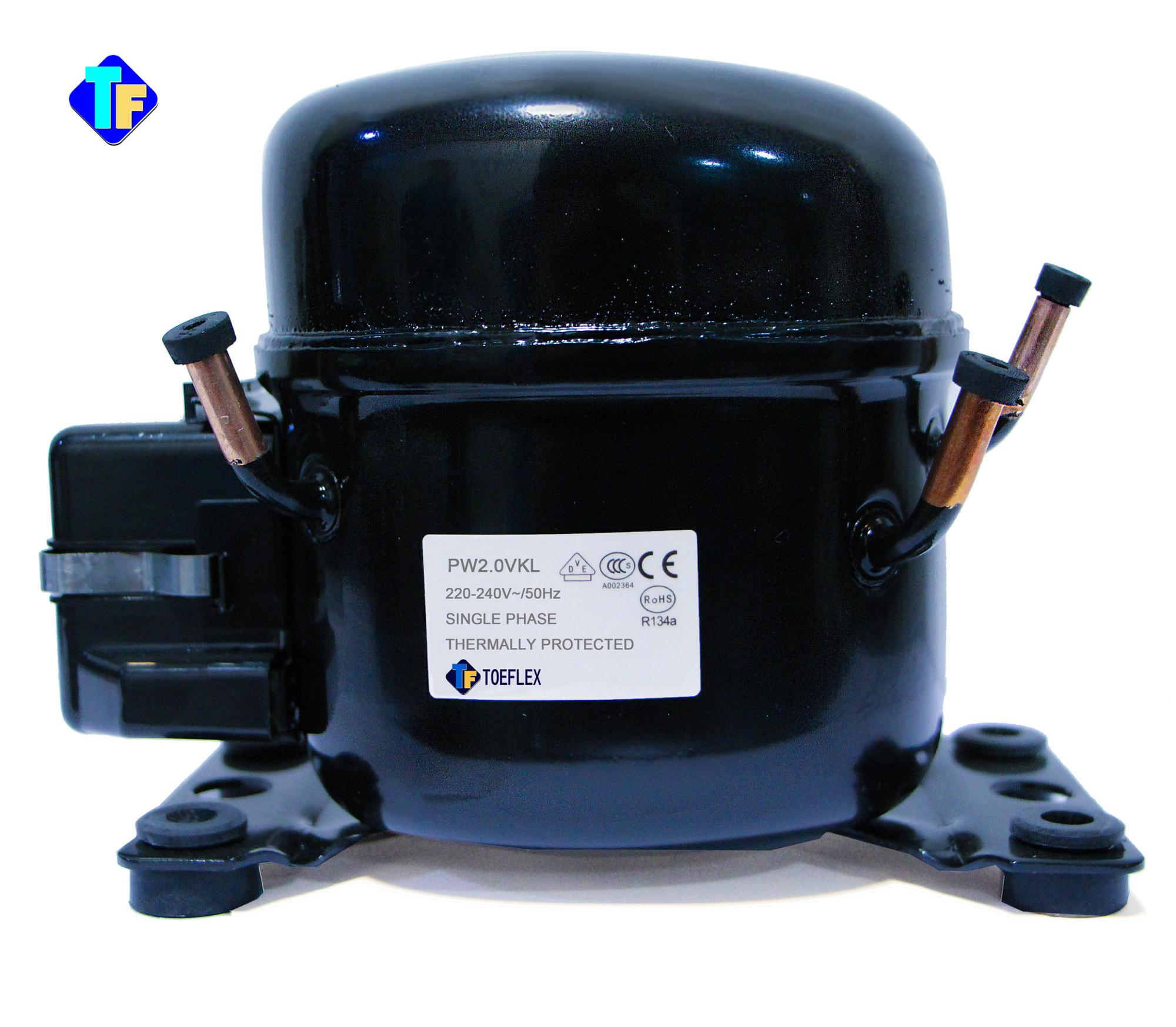 PW2.0VK Hermetic mini rotary Refrigeration R134a compressor