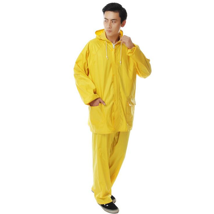 superior quality yellow fashion PVC waterproof suits raincoat