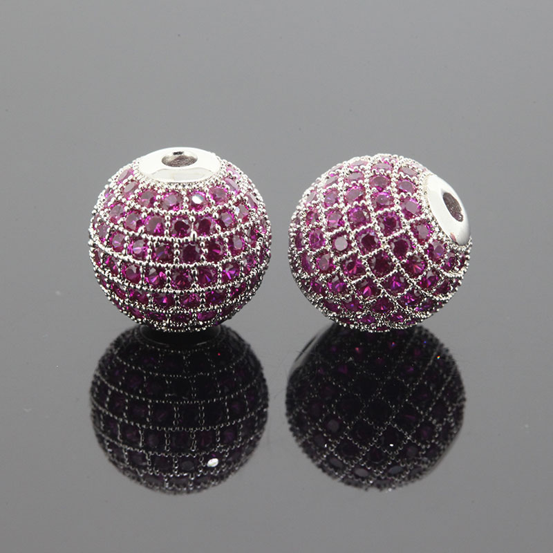 Cristal Strass Rose Lustre Cz Diamant Perles 8mm Forme Ronde Disque