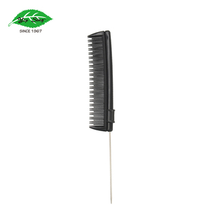 Professional Hair Razor Comb, Black Metal Pin Cutting Thinning Comb for New Tool