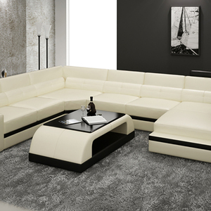 Hot Sale Best Quality Solid Color Sofa Set American Leather Corner Sofa
