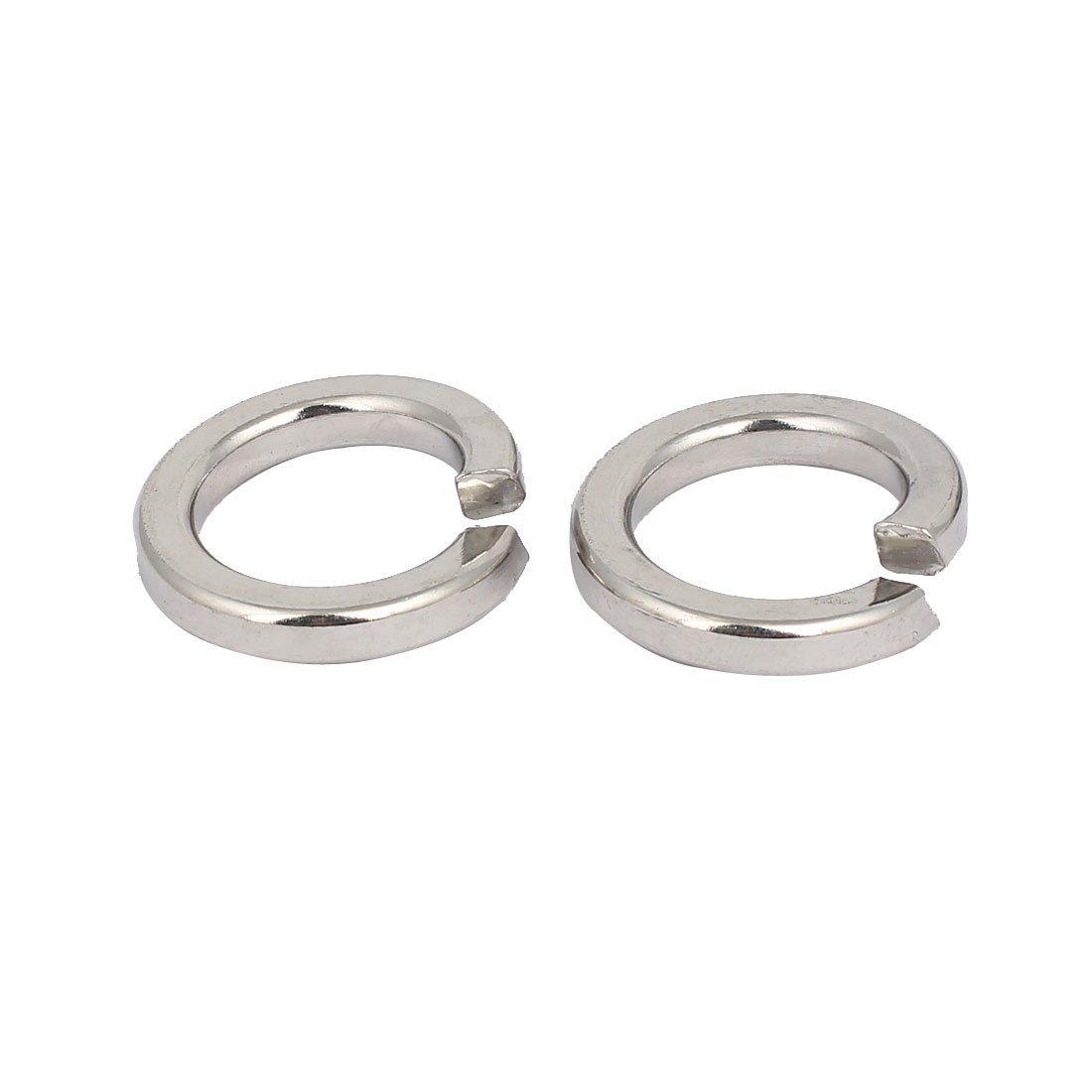 uxcell M22 Inner Diameter 316 Stainless Steel Split Lock Spring Washers Gasket 2pcs