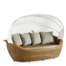 Daybed 비치 가구 등나무 Sunbed <span class=keywords><strong>물</strong></span> Lounger 야외 침대 알루미늄 야외 Daybed 전망대
