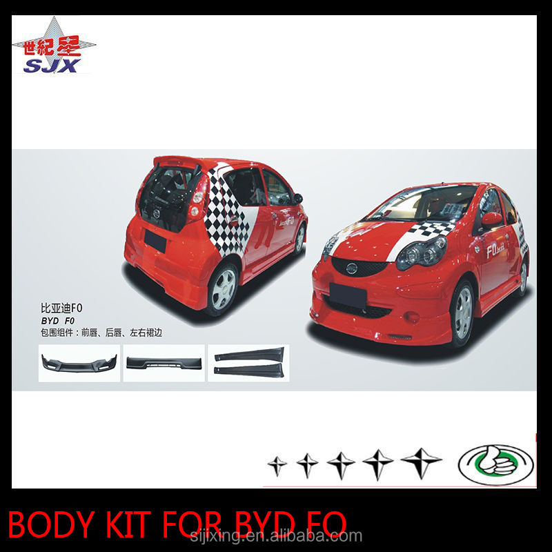 For BYD F0 front and rear bumpers boy kit
