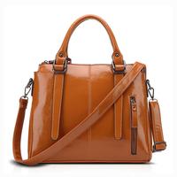 Fashion Wax pu leather ladies handbag manufacturers china