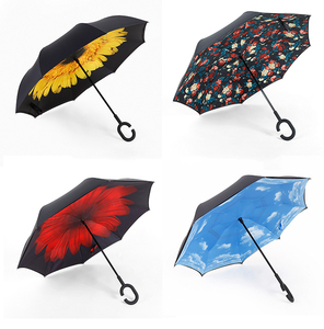 Stars Inverted Windproof OEM&ODM Design Reversible Golf Umbrella