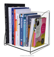 Best selling acrylic book shelf acrylic countertop book page holder display