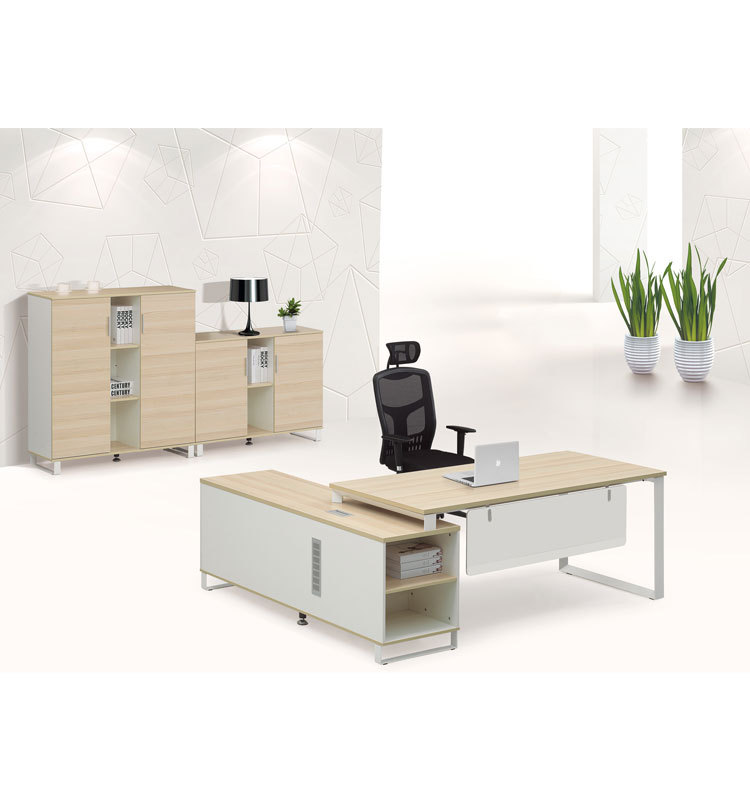 Simple Style Warm White Office Table Models Buy Office Table