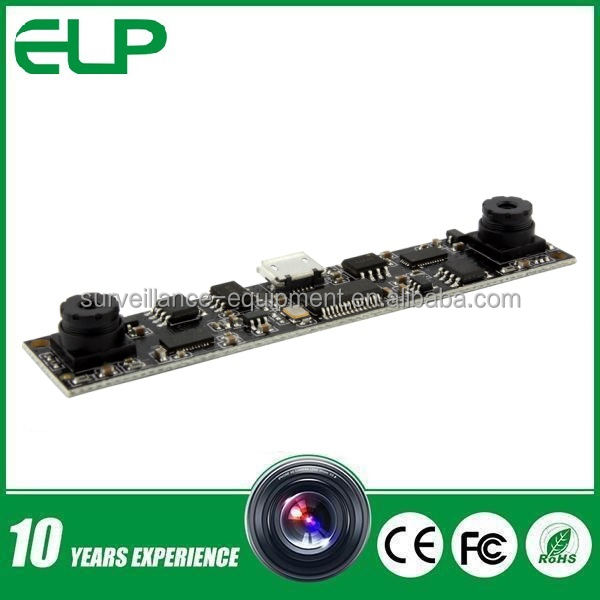 HD 720p MJPEG dual lens car camera module for Intelligent People Counting Products