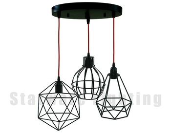 Industrial hanging light metal cage lamp edison bulb pendant light industrial hanging light metal cage lamp edison bulb pendant light mozeypictures Choice Image