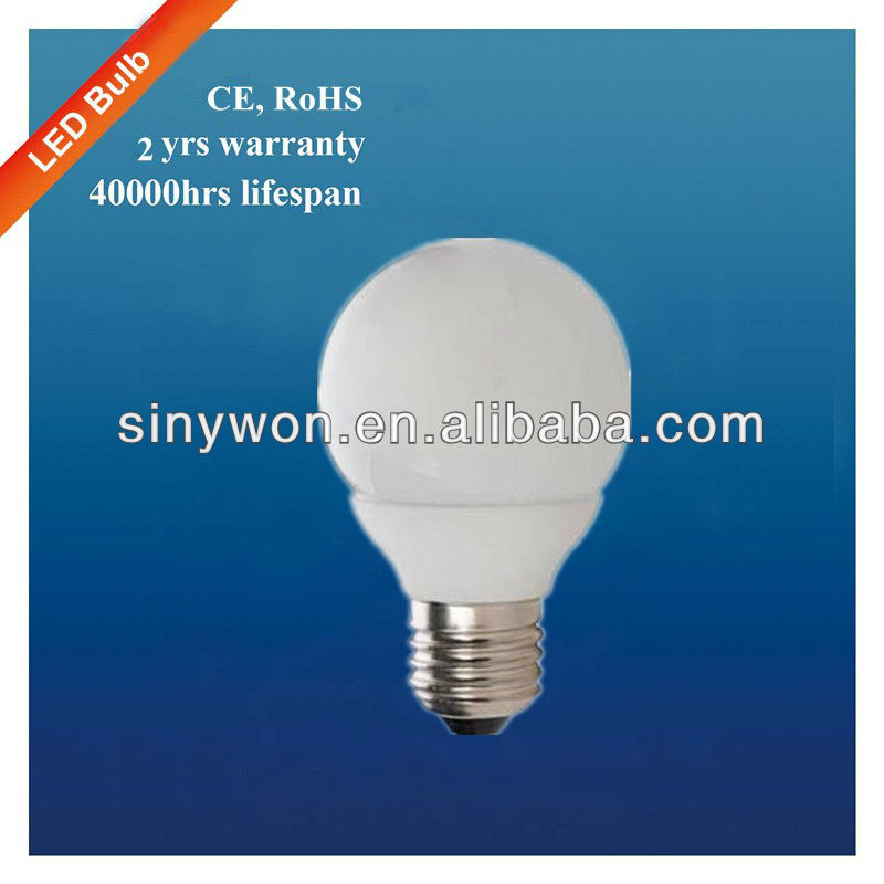 SYW 2013 high lumens led lighting hot sale Ceramic Housing E27 3W led bulb