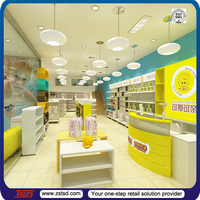TSD-S001 China factory Custom retail chain store display stand/department store display racks/shop counter design