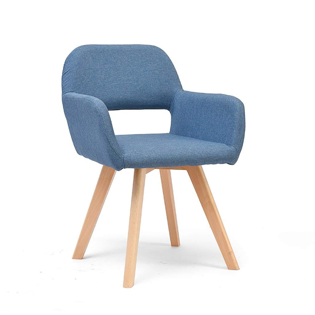 Simple modern fabric dining chair Leisure chair Solid wood chair foot desk chair Computer chair Commercial conference chair Negotiating chair Multiple colors to choose from (Color : A)
