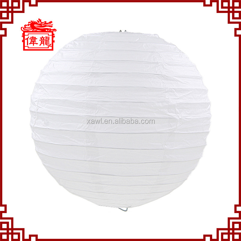 white color round shape chinese paper lantern chinese palace lanterns DZ-01