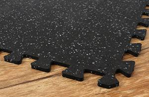 IncStores Gym Flooring Rubber Tiles - BEST Quality Pro Rubber Mats 3ft x 3ft (8 Tiles, 72 Sqft) Interlocking Tiles For Equipment and Exercise With Edge Pieces
