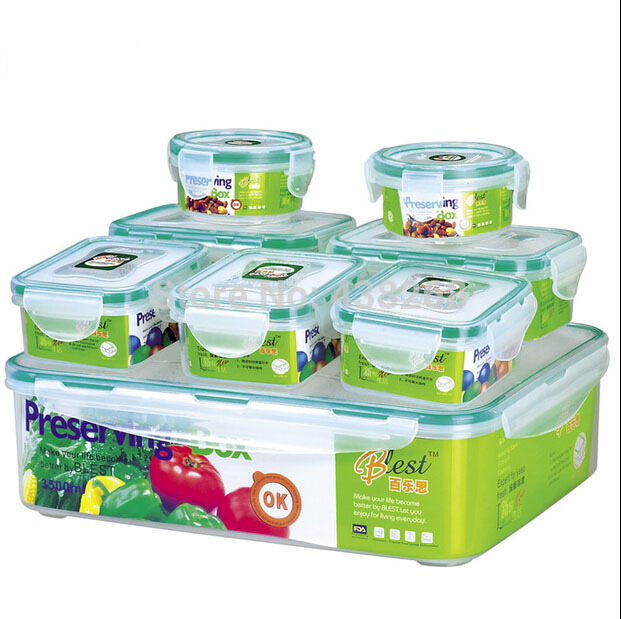 Buy Good 8pcs plastic container for food storage box for vegetable