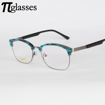 3b408175207 New Model Trendy Italy Fake Designed Acetate Optical Reading Glasses with  Metal Temples