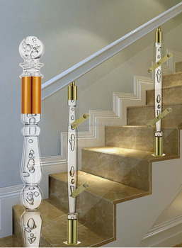Buy Luxury Arcylic Stair Balustrade / Crystal Glass Stair Handrail ...