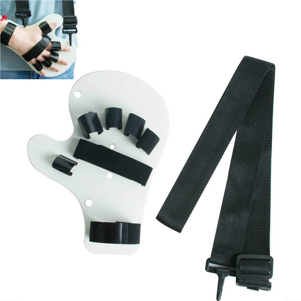 Enshey Finger Training Brace- Finger Splint Fingerboard Finger Separator Orthotics Points Hand Wrist Training Orthosis Device Support Spasm Extension Board Splint Apoplexy Hemiplegia